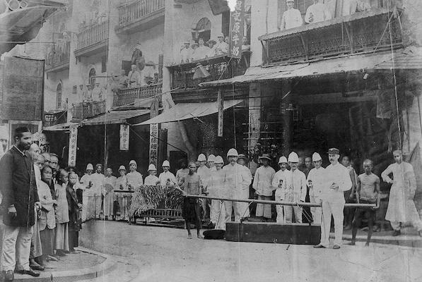 Staffordshire Regiment during the Plague, Hong Kong, 1894.