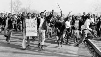 In the Soweto Massacre (South Africa) in 1976, twenty-three students were killed for protesting against apartheid policies and the adoption of Afrikaans as the language spoken schools in Black regions.