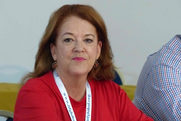 Alicia Castro presented the conclusions of the meeting (Photo: Flickr, International Transport Workers' Federation)
