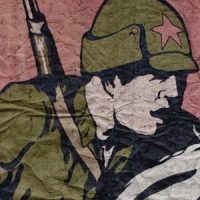 Red Army poster detail, Ukraine 1920