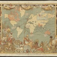 Imperial Federation Map of the World Showing the Extent of the British Empire in 1886. Boston Public Library.