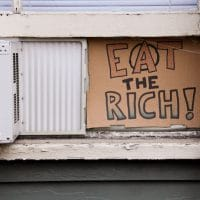   Eat the Rich Anarchist Sign August 13 20111 Photo Steven Depolo   MR Online