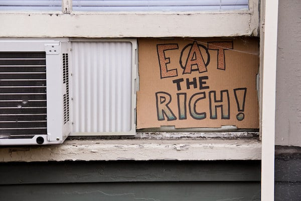 | Eat the Rich Anarchist Sign August 13 20111 Photo Steven Depolo | MR Online