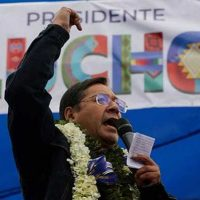 The victory in first round of the Movement towards Socialism (MAS) party in Bolivia