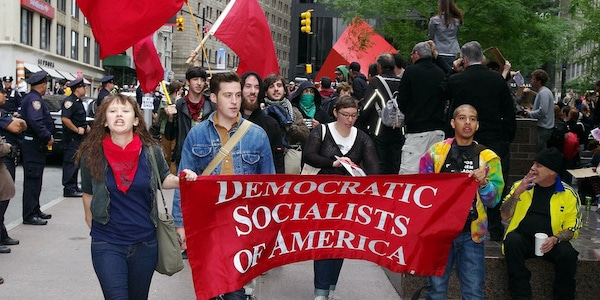 Democratic Socialists of America members at Occupy Wall Street, 2011 (cc photo: David Shankbone).