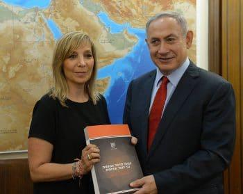 Palmor posing with Israeli Prime Ministers Benjamin Netanyahu in 2016. Photo | Israeli Government Press Office
