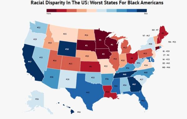 Worst states for blacks