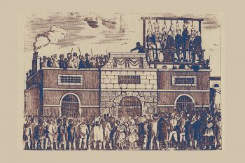 The mass hanging at Horsemonger Lane jail of Edward Despard and other radicals