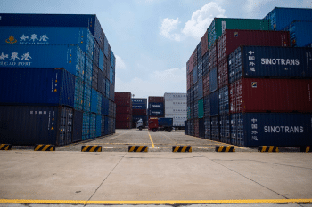 | A truck transports a shipping container at a port in Zhangjiagang China on Aug 7 Johannes EiseleAFPGetty Images | MR Online