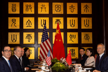 | US and Chinese officials including Chinese Vice Premier Liu He United States Trade Representative Robert Lighthizer and Treasury Secretary Steve Mnuchin meet during negotiations in Shanghai in July 2019 Ng Han GuanAFPGetty Images | MR Online