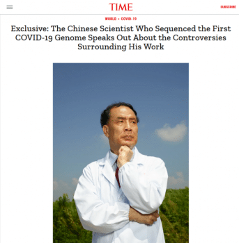 "Time (8/24/20): ""Crises beget scapegoats, and the coronavirus is no different."""