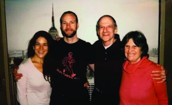 After being elected last year as district attorney, Chesa Boudin married Valerie Block and together with Chesa's mother, Kathy Boudin, freed after 22 years in prison in 2003, visited his father, David Gilbert, at Wende Correctional Facility in Alden, N.Y. From left are Valerie Block, Chesa Boudin, David Gilbert and Katherine Boudin.