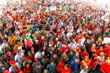 A grassroots Chavista gathering in Caracas, 2018. (Voces Urgentes)