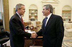George W. Bush & Paul Wolfowitz (wikipedia).