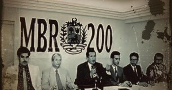 Hugo Chávez founded the MBR 200 movement in 1983. Here, in a 1997 press conference. (Archive)