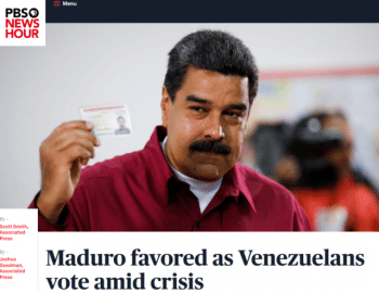 | Venezuelan President Nicolás Maduros reelection was widely anticipated AP 52018but after the voting it was conventional media wisdom that his victory could only be explained through fraud | MR Online