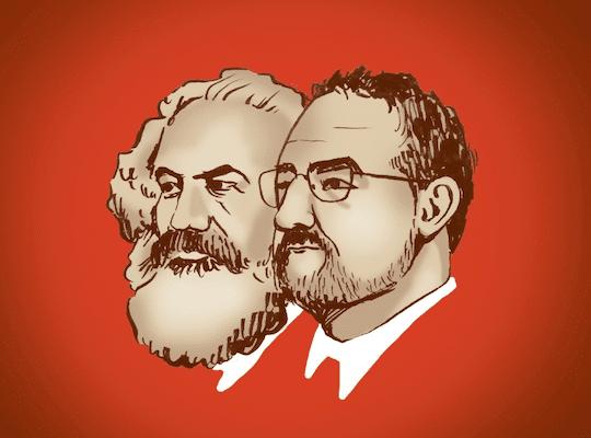 Marx and Schlissel(Illustration by Maggie Wiebe)