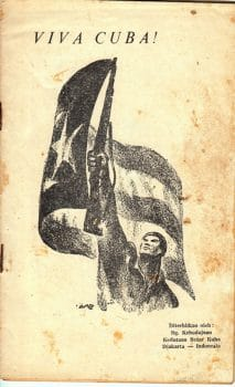 Cover of Viva Cuba, a collection of poetry, including by Lekra members, in homage to the Cuban Revolution, 1963.