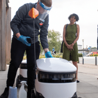 | THE END OF WORK Labour leader Keir Starmer meets a fleet of Starship delivery robots at a Coop in Milton Keynes during a visit to discuss technological innovation during Covid19 | MR Online