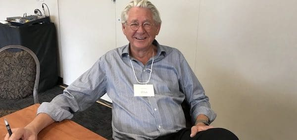 LEO PANITCH, LEADING SCHOLAR OF THE GLOBAL DEPREDATIONS OF NEOLIBERALISM AND CANADA RESEARCH CHAIR IN COMPARATIVE POLITICAL ECONOMY AT YORK UNIVERSITY IN TORONTO, IN BANFF IN 2019 (PHOTO: DAVID J. CLIMENHAGA).