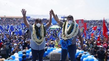 | The Movement Towards Socialisms MAS presidential ticket with Luis Arce and David Choquehuanca won a resounding victory in the general elections held on October 18 in Bolivia Photo Luis ArceTwitter | MR Online