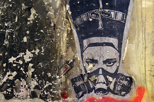 El Zeft (Egypt), Nefertiti in a Gas Mask, 2012.