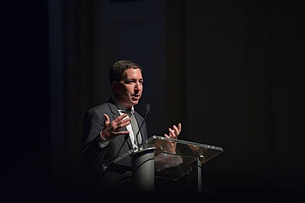 Glenn Greenwald 2017 Allard Prize ceremony (Photo: Wikimedia Commons)