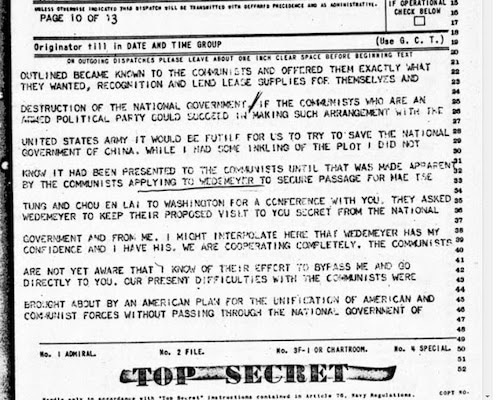 Hurley telegram to Roosevelt
