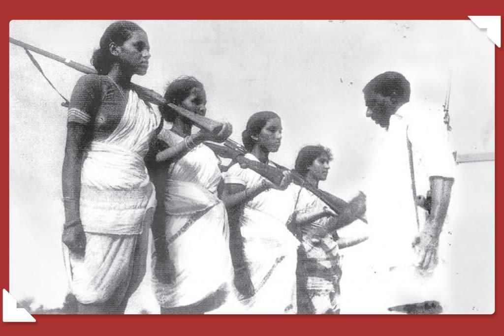 | Mallu Swarajyam left and other members of an armed squad during the Telangana armed struggle 19461951 | MR Online