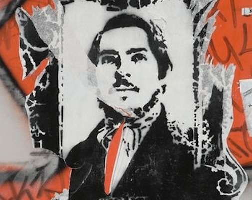 | Stencil of the young Engels By Alex1011 CC BYSA 30 via Wikimedia Commons | MR Online