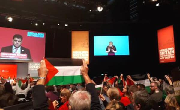 | Palestine flags at Labour Conference September 2018 Photo James Thomas Griffiths | MR Online