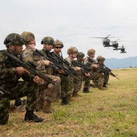 US 82nd Airborne paratroopers training with Colombian troops (Credit: Sgt. Andrea Salgado-Rivera)