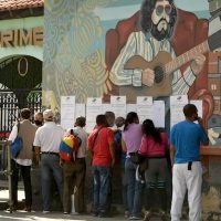 Voting in Venezuela's elections. Photo: PSUV Facebook page