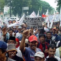Jakarta farmers protest (Photo: Wikimedia Commons)