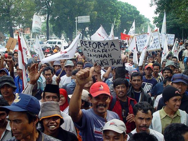 Jakarta farmers protest (Photo: Wikimedia Commons)