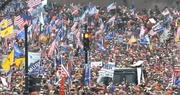 Trump rally in Washington, DC on January 6, 2021 (Public Domain Mark 1.0).