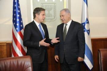 June 16, 2016: Antony Blinken, as deputy secretary of state, meeting with Israeli Prime Minister Benjamin Netanyahu in Jerusalem. (U.S. State Department, Wikimedia Commons)
