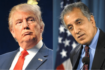 Trump's introduction by Khalilzad during the 2016 campaign foretold Trump's choices for top foreign policy positions during his presidency. [Source: khama.com]