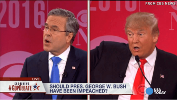 Trump attacked Jeb Bush for his family's waging the Iraq War during the 2016 campaign. [Source: usatoday.com]