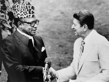 Mobutu and Ronald Reagan