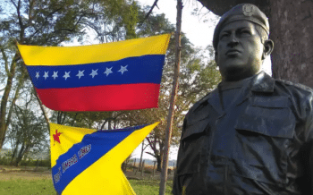A sculpture of Hugo Chávez in El Maizal Commune. (Cira Pascual Marquina/Venezuelanalysis)