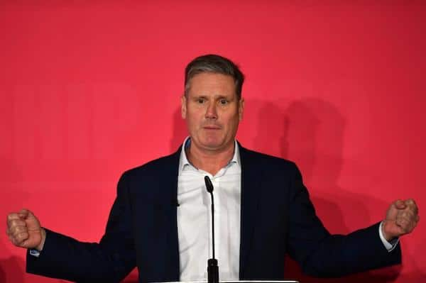 | Keir Starmer pictured at a party hustings event in Liverpool in January 2020 prior to his election as Labour leader AFP | MR Online