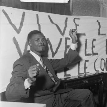 Lumumba in Brussels (1960) (CC - Wikimedia)