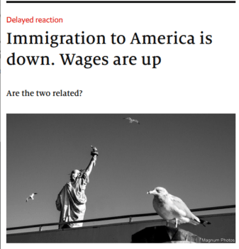 """""""Are the two related?"""" the Economist (2/15/20) asked. Turns out—probably not."""