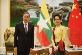 Chinese State Councilor & Foreign Minister Wang Yi met Myanmar's State Counsellor & Foreign Minister Aung San Suu Kyi, Naypyitaw, Jan. 11, 2021