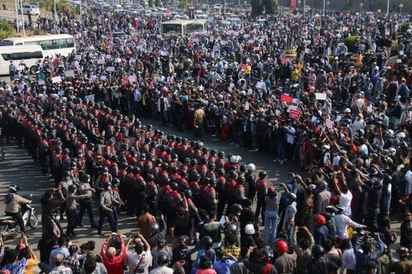   Protests in Myanmars central plains after the military coup   MR Online