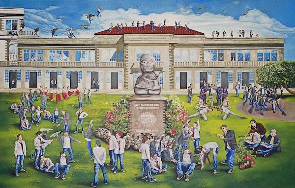 Oswaldo Terreros (Ecuador), Mural para la Universidad Superior de las Artes ('Mural for the University of the Arts'), 2012.