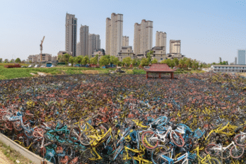 | A bicycle graveyard in Wuhan in 2018 Photo Wu Guoyong Source South China Morning Post | MR Online