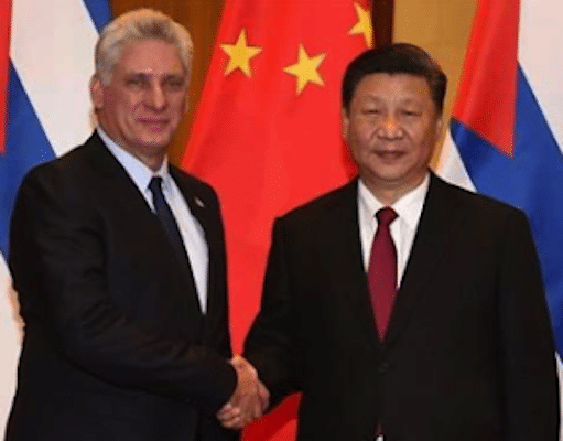 Miguel Díaz-Canel and Xi Jinping