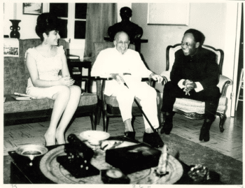Dr. Kwame Nkrumah and W. E. B. DuBois on DuBois's 95th           birthday in 1963. [Source: credo.library.umass.edu]